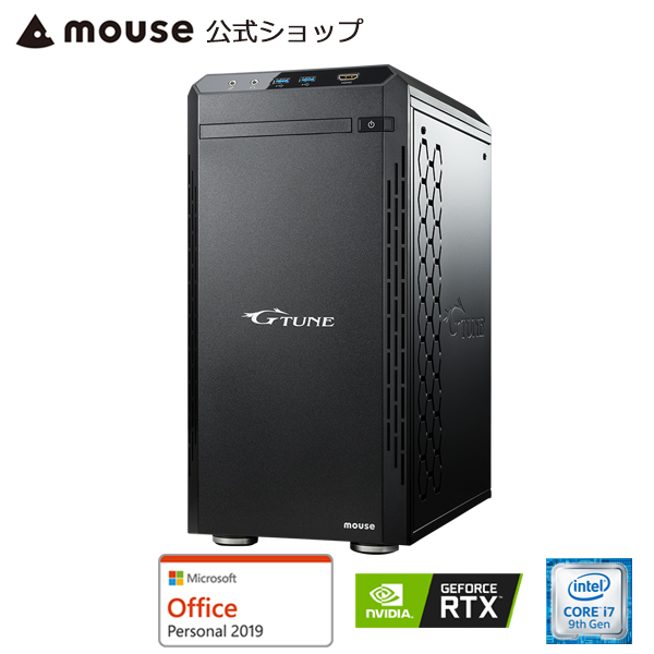 【ポイント10倍♪】G-Tune EM-B-2060Super ゲーミングPC eスポーツ デスクトップ パソコン Core i7-9700 16GB メモリ 512GB M.2 SSD(NVMe) 1TB HDD GeForce RTX2060 Super Microsoft Office付き mouse マウスコンピューター PC BTO 新品