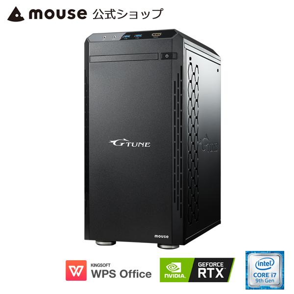 【ポイント5倍♪】G-Tune HM-B-2070Super ゲーミングPC eスポーツ デスクトップ パソコン Core i7-9700 16GB メモリ 512GB M.2 SSD(NVMe) 1TB HDD GeForce RTX2070 Super WPS Office付き mouse マウスコンピューター PC BTO 新品