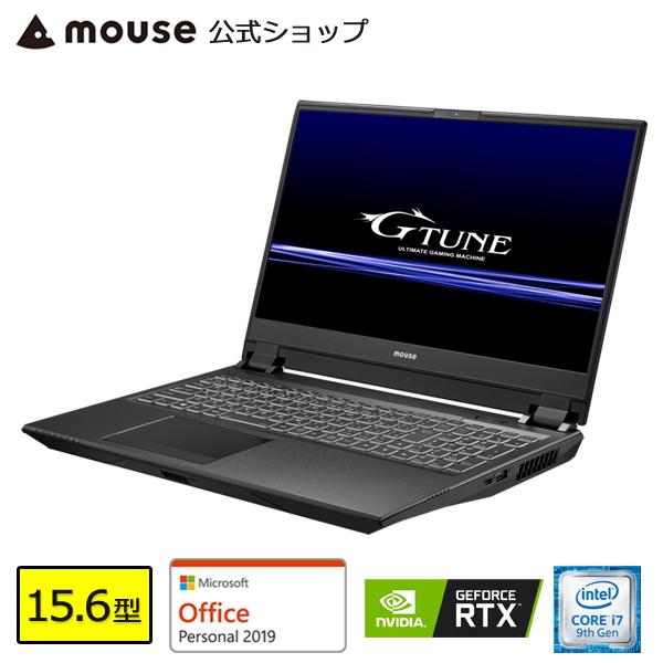【ポイント3倍♪】ノートパソコン office付き 新品 G-Tune E5-144-MA-AP ゲーミングPC 15.6型 Core i7-9750H 16GB メモリ 512GB M.2 SSD(NVMe) 1TB HDD GeForce RTX2060 マウスコンピューター PC BTO 【GN】