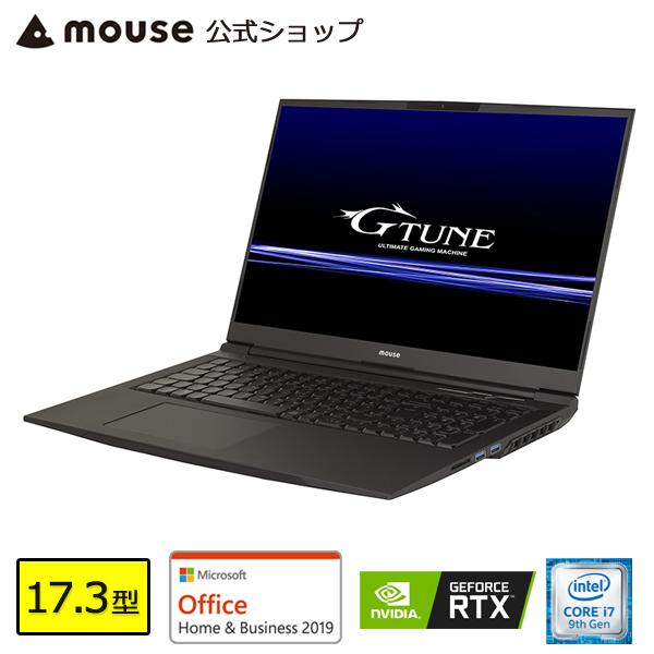 【ポイント3倍♪】ノートパソコン office付き 新品 G-Tune E7-MKB-MA-AB ゲーミングPC 17.3型 Core i7-9750H 16GB メモリ 512GB M.2 SSD(NVMe) 1TB HDD GeForce RTX2060 マウスコンピューター PC BTO 【GN】