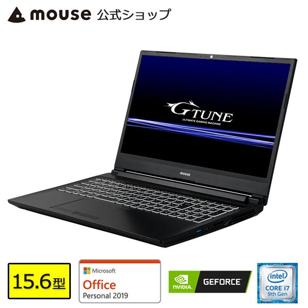 【ポイント5倍♪】ノートパソコン office付き 新品 G-Tune E5 ゲーミングPC Windows10 15.6型 Core i7-9750H 8GB メモリ 256GB M.2 SSD 1TB HDD GeForce GTX1660Ti マウスコンピューター BTO Microsoft Office 【GN】