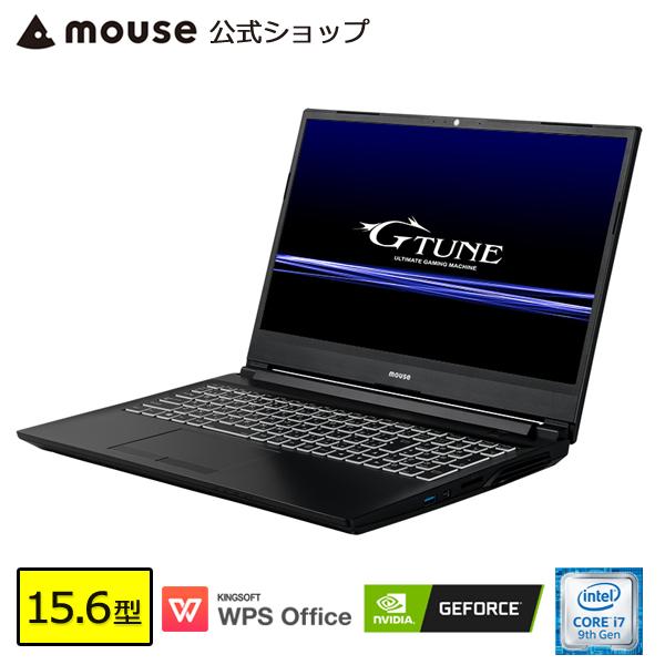 【ポイント5倍♪】ノートパソコン office付き 新品 G-Tune E5 ゲーミングPC Windows10 15.6型 Core i7-9750H 8GB メモリ 256GB M.2 SSD 1TB HDD GeForce GTX1660Ti マウスコンピューター BTO WPS Office 【GN】