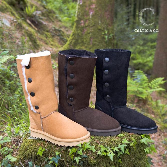 Celtic セルティック ムートン ブーツ POPPER カーフ 英国製 送料無料 ブランド 靴 ケルティック シープスキン ブーツ