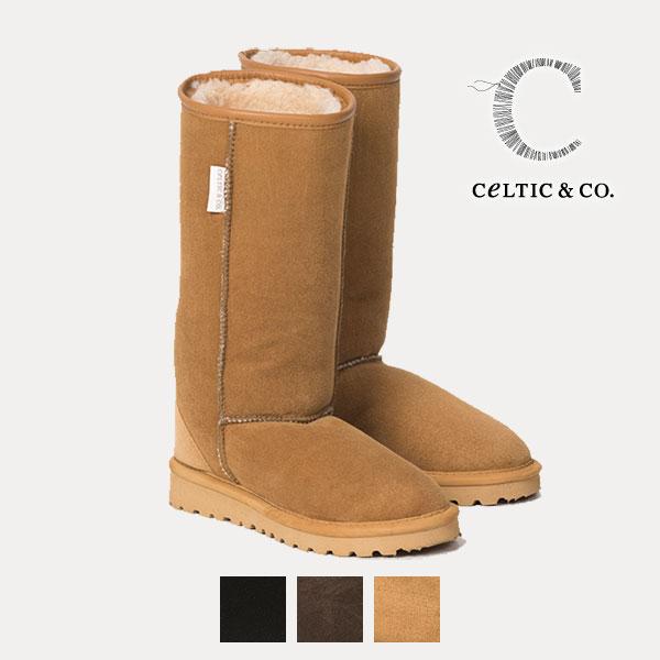 Celtic セルティック ムートン ブーツ CLASSIC カーフ丈 ふくらぎ丈 筒丈29cm 英国製 送料無料 ブランド 靴 ケルティック シープスキン