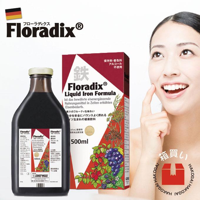 サルス フローラディクス 500ml 1ケース 12本セット 鉄分 サプリメント 美肌 ノン・ヘム鉄 ドイツ製 ハーブドリンク お得 箱買い 1ダース 液体 ヘモグロビン 赤血球 美肌 貧血対策