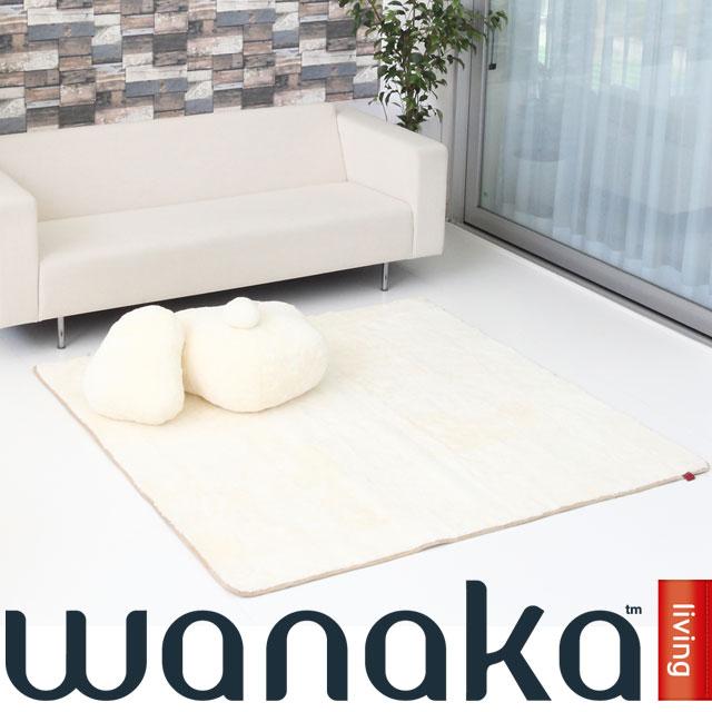 ムートン カーペット WANAKA シープスキン ニュージーランド製 送料無料 170x170cm あす楽 北欧 敷物 ホワイト ブラック