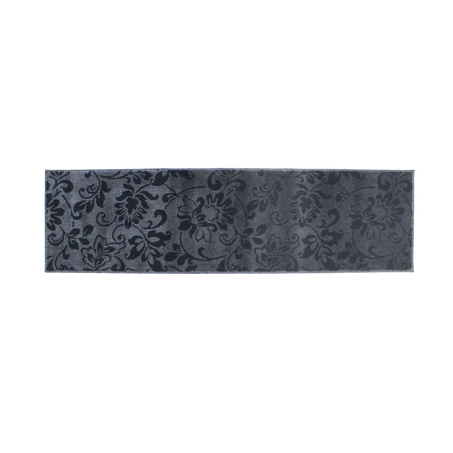 フラットカーペット 65×240cm 日本製 防ダニ・抗菌基布 滑り止め加工 BCFナイロン 花柄 床暖房 ホットカーペット対応 ラグ 絨毯 細長い ベッド キッチンマット 代引き不可