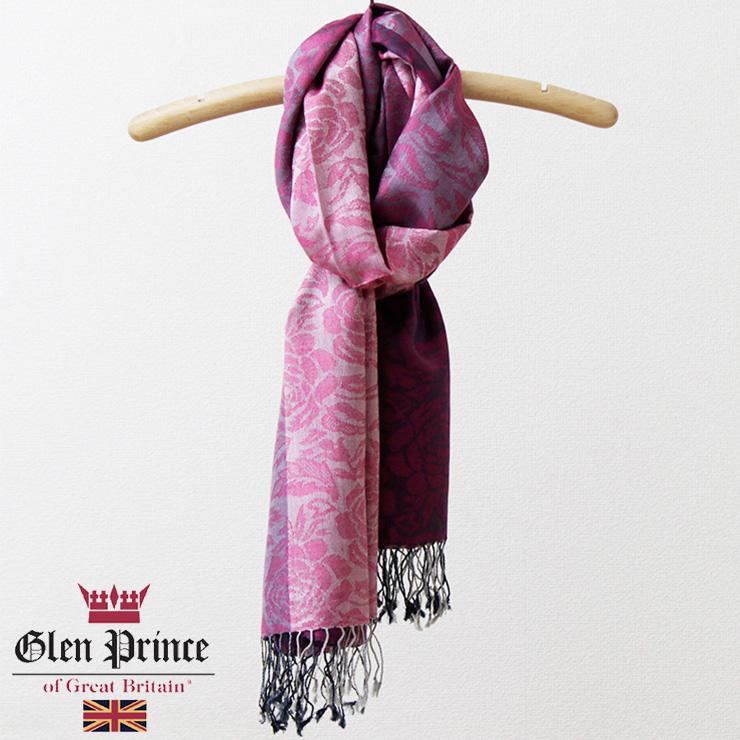 《メール便OK》【送料無料】Glen Prince(グレンプリンス)ストール【シルク/モダール】【ピンク】 正規販売店[ギフト ギフト対応 贈り物 入学式]
