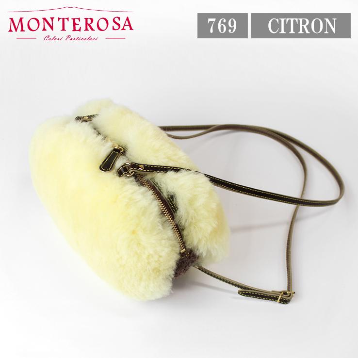 [送料無料]【日本製】モンテローザ muku CALISSON ムートンバッグ ショルダーバッグ No.769 シトロン【MONTEROSA ムク ムートン バッグ】《ギフト対応OK》