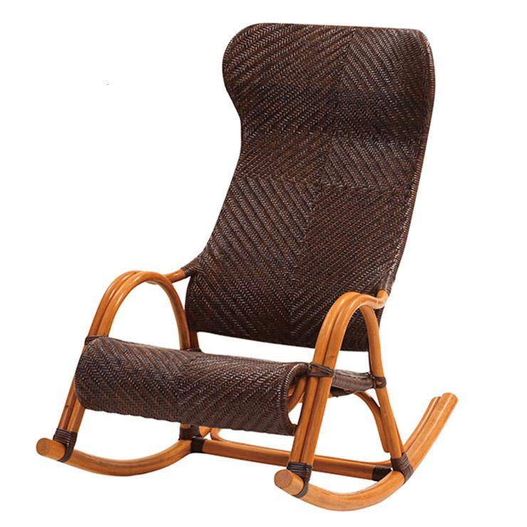 サンフラワーラタン 手編み ロッキングチェア C100CB W59×D104×H97 厳選素材を使用したワンランク上のハンドメイドラタン家具【籐 ラタン 椅子 ロッキングチェア】[ナチュラル アンティーク]