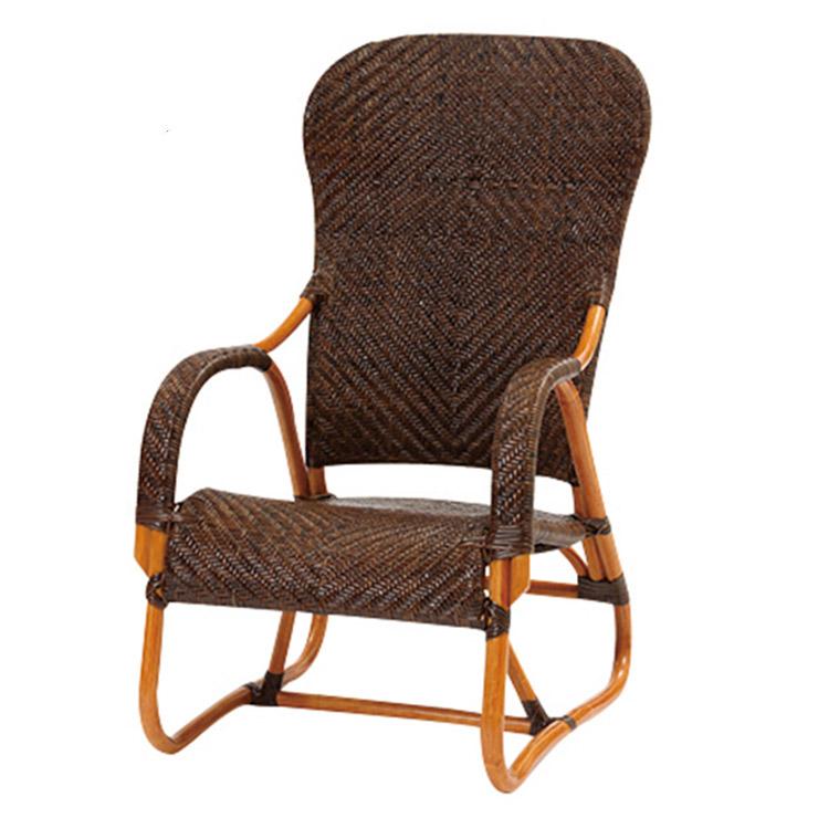 サンフラワーラタン 手編み ハイバックチェア C111CB W55×D72×H96 厳選素材を使用したワンランク上のハンドメイドラタン家具【籐 ラタン 椅子】[ナチュラル アンティーク]
