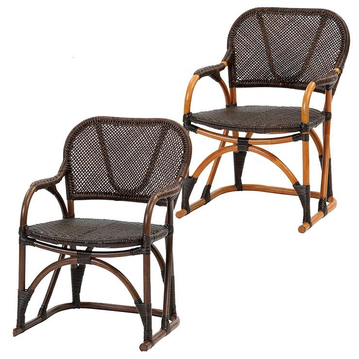 サンフラワーラタン 手編み チェア C117 W52×D53×H70 厳選素材を使用したワンランク上のハンドメイドラタン家具【籐 ラタン 椅子】[ナチュラル アンティーク]【代引き不可】