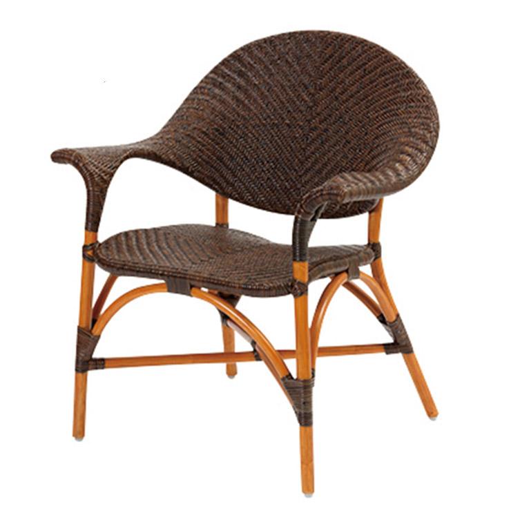 サンフラワーラタン 手編み パーソナルチェア C124CB W70×D58×H80 厳選素材を使用したワンランク上のハンドメイドラタン家具【籐 ラタン 椅子】[ナチュラル アンティーク]【代引き不可】