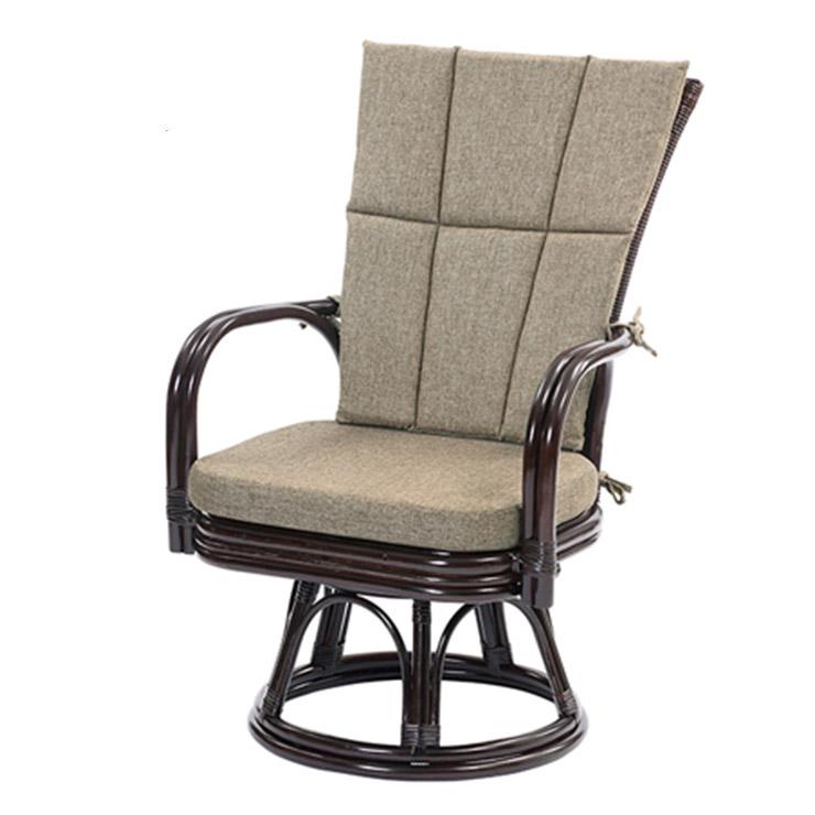 サンフラワーラタン ラタンゆったり回転チェア C260CBZ ダークブラウン W60×D63×H90【籐 ラタン 椅子】【代引き不可】