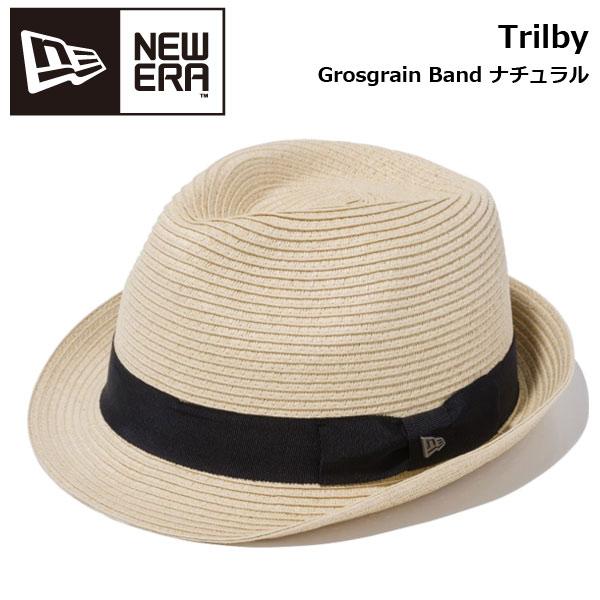 帽子 ハット 麦わら ストローハット メンズ レディース ニューエラ NEW ERA The Trilby Grosgrain Band ナチュラル newera-19ss