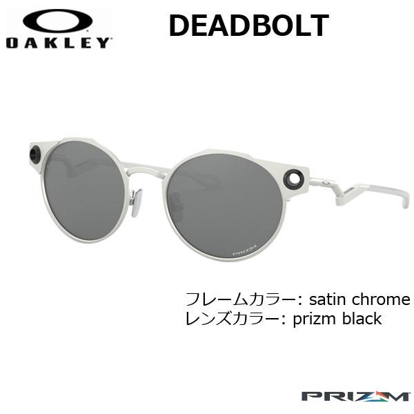 オークリー サングラス デッドボルト OAKLEY DEADBOLT フレーム Satin Chrome レンズ Prizm Black oky-sun
