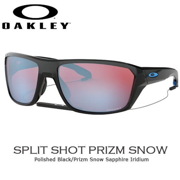 【クーポン 1000円OFF 期間限定】/オークリー カジュアル サングラス OAKLEY SPLIT SHOT フレーム Polished Black レンズ Prizm Snow Sapphire
