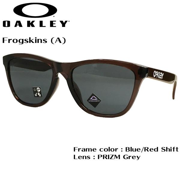 カジュアル ライフスタイル サングラス アイウェア オークリー フロッグスキン OAKLEY Frogskins (A) フレーム Blue/Red Shift レンズ PRIZM Grey アジアンフィット あす楽