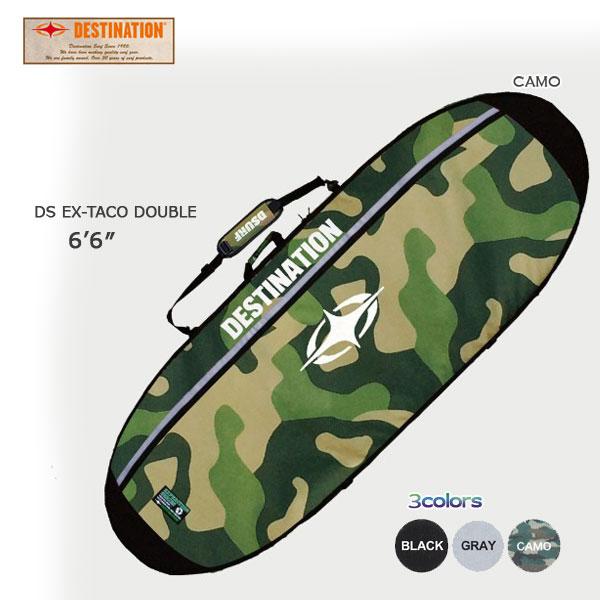DESTINATION(デスティネーション) EX タコダブル 2本入れ AIR TRAVEL 12mmPAD 6'6 トラベル用ハードケース サーフィン