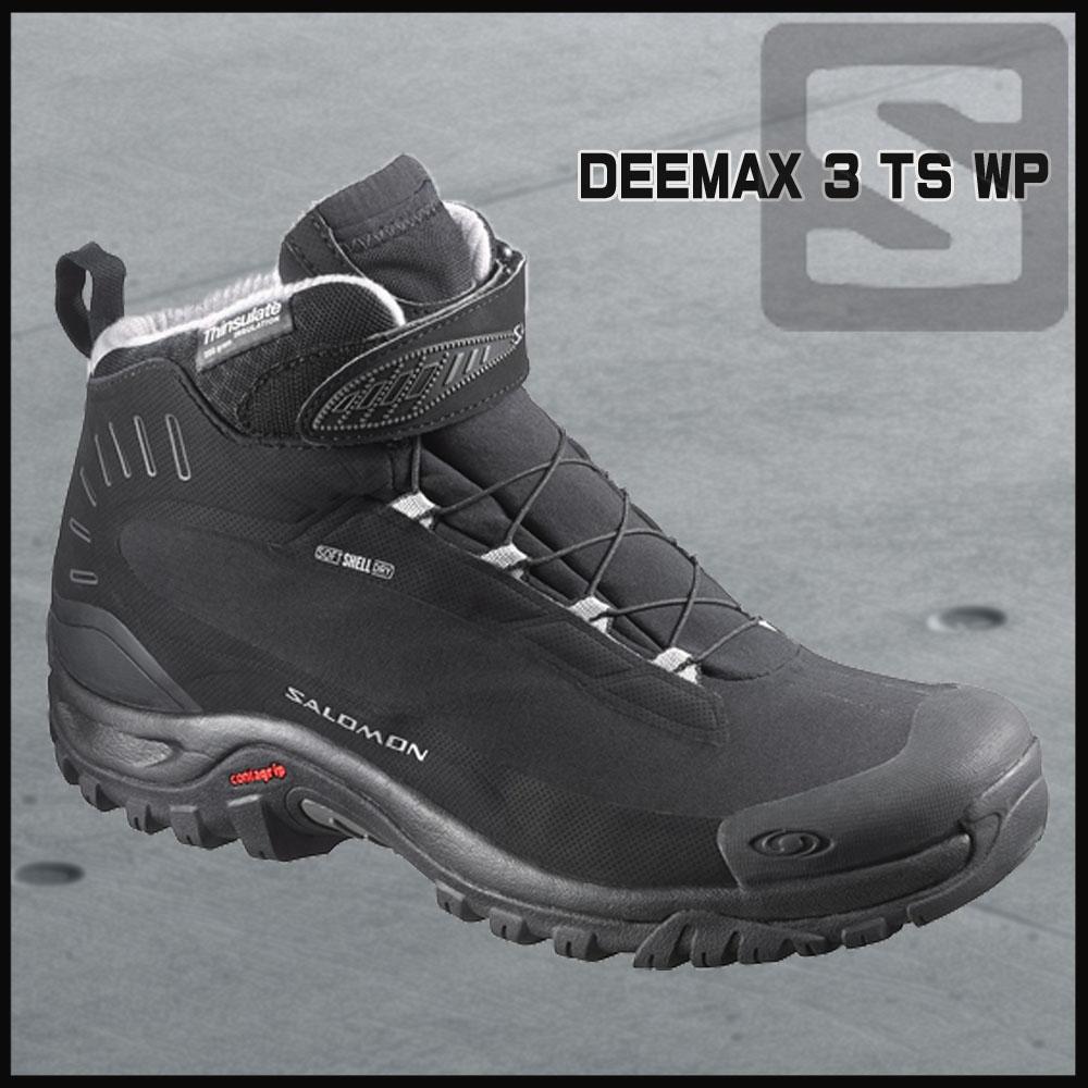 サロモン アウトドアシューズ Salomon DEEMAX 3 TS WP Black/Black/Alu