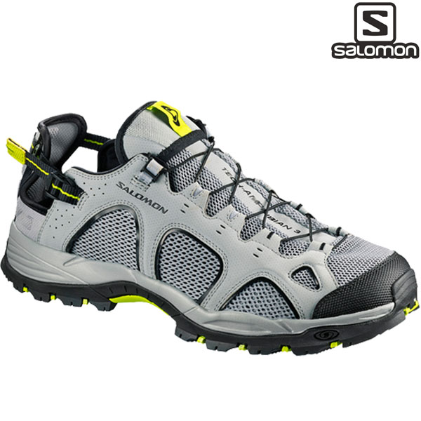 サロモン SalomonTECHAMPHIBIAN 3QUARRY/BLACK/ACID LIME【p10】