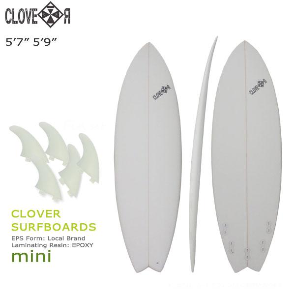 サーフィン サーフボード CLOVER クローバー SURFBOARDS MINI ショートボード ミニボード 素材/EPS フィン付き 店舗引取で送料無料