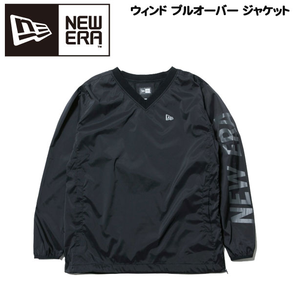 【400円クーポンあり 4/9 20:00~】/ゴルフウェア ウインドジャケット 一般メンズ ニューエラ NEW ERA Wind Pullover Jacket ブラック