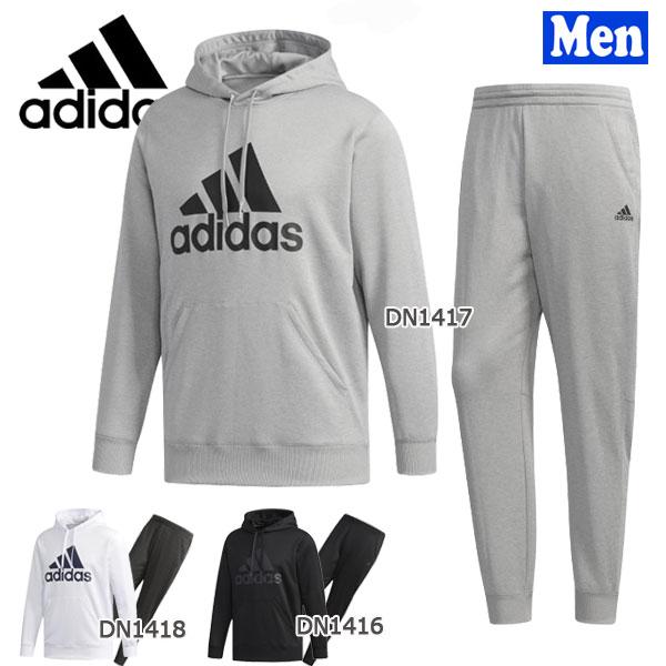 【期間限定 クーポン3%OFF 5/24 11:59まで】/スポーツウェア メンズ アディダス adidas MUSTHAVES ライトスウェット プルオーバー パーカー&パンツ 上下セット