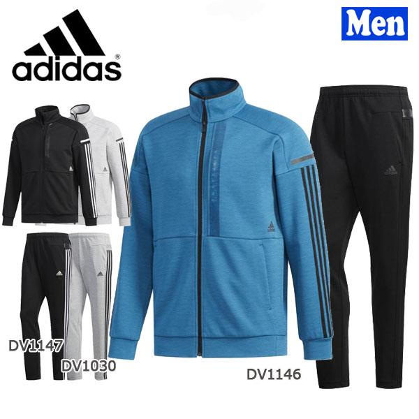 【400円クーポンあり 4/9 20:00~】/スポーツウェア メンズ アディダス adidas adidas 24/7ヘザーウォームアップ ジャケット&パンツ 上下セット