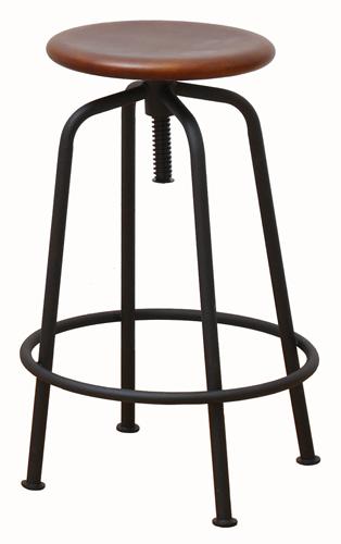 【anthem 昇降スツール】アンセム 椅子 カウンター バー チェア カフェスタイル スタイリッシュ シンプル インダストリアル リビング アイアン ウッド ビンテージスタイル ハイチェア おしゃれ 座面高さ調節可能 花台