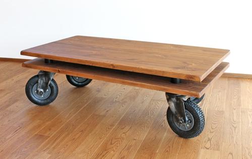 【Dunk Low Table】ダンクローテーブル職人手作り エイジング ヴィンテージ パイン無垢材 アイアン 風合い 使い込む 重厚 個性的 受注生産 書斎 古民家 メンズ 渋い アンティーク 愛用 ファクトリースタイル こだわり