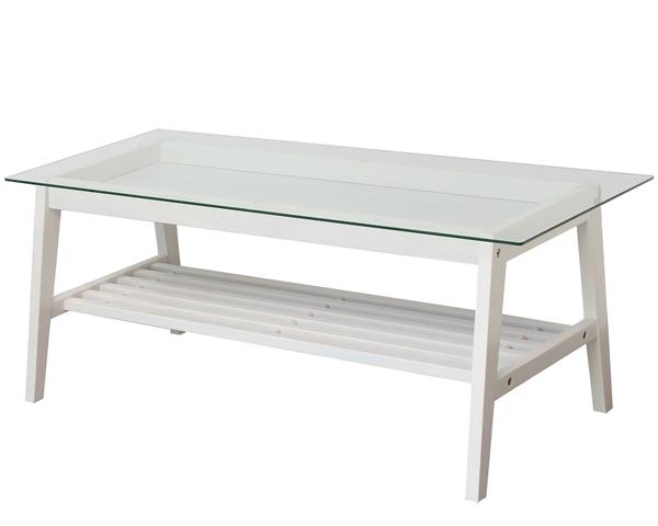【ine reno リビングテーブル】(White)【アイネリノ】 天然木 収納家具 リビング収納 一人暮らし ホワイト家具 白家具 かわいい エレガント クラシカル ガーリー アンティーク風