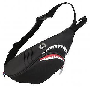 鯊魚的腰袋 (黑色)