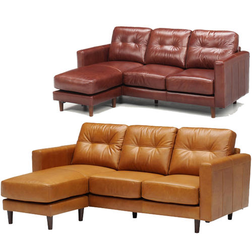 Oil leather sofa (chaise)