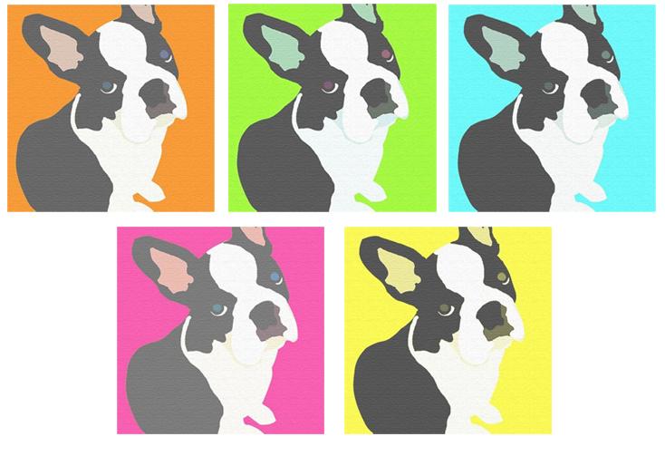 受注生産【フレンチブルドッグモチーフのインテリアパネルXLサイズ (グラフィック)】5色 4サイズ ポップ お洒落 フレブル フレンチブル 犬 リビング 良発色 模様替え 耐水性 耐光性 絵画 キャンバス