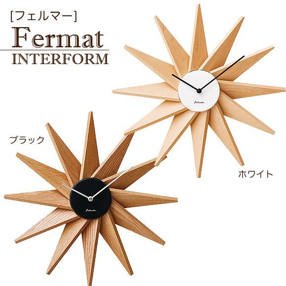 インターフォルム Fermat フェルマー ウォールクロック 掛け時計 インテリア 時計 開店祝い お祝い  掛け時計 レトロ moyakko【送料無料】