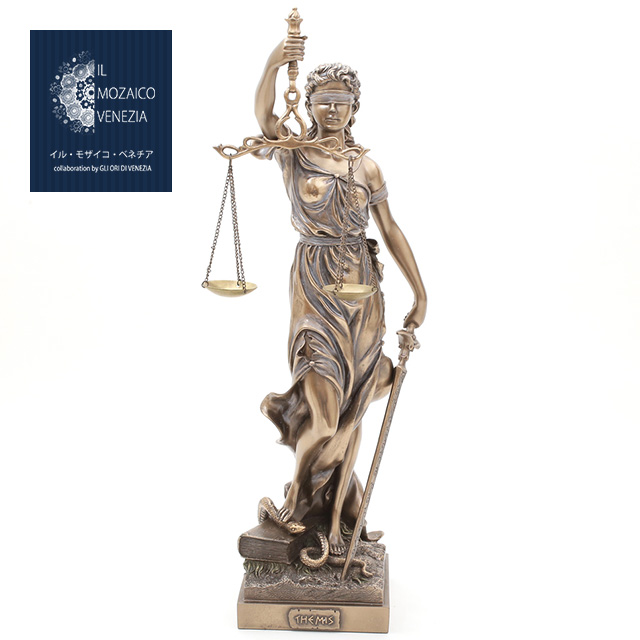 正義を象徴を擬人化した正義の女神像 LADY JUSTICE イタリア製 ベネチアン ヴェネチア ブロンズ像 インテリア 目隠し お気に入り 正義の女神 価格交渉OK送料無料 貧富 剣 公正 天秤 7851-FG20