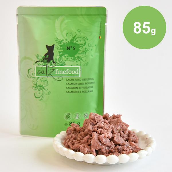 新鮮な肉や魚をメインにハーブ 絶品 フルーツ サービス 野菜 オイルをバランスよく配合したウェットフード 85g サーモンポルトリー No.5 キャッツファインフード