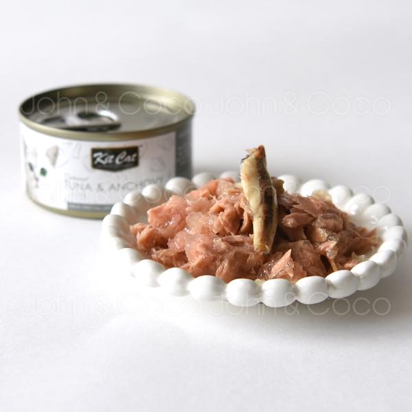 猫にとって必須アミノ酸であるタウリン お腹の健康維持のためにフラクトオリゴ糖を配合 キットキャット トッパーズ ツナ フード 市場 プレミアム キャット 当店限定販売 アンチョビ 80g