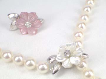 svあこや真珠ネックレスA-ホワイトB-ピンク   ギフト プレゼント