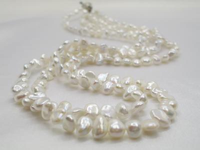 淡水真珠 バロックパール 2連ネックレス   ギフト プレゼント
