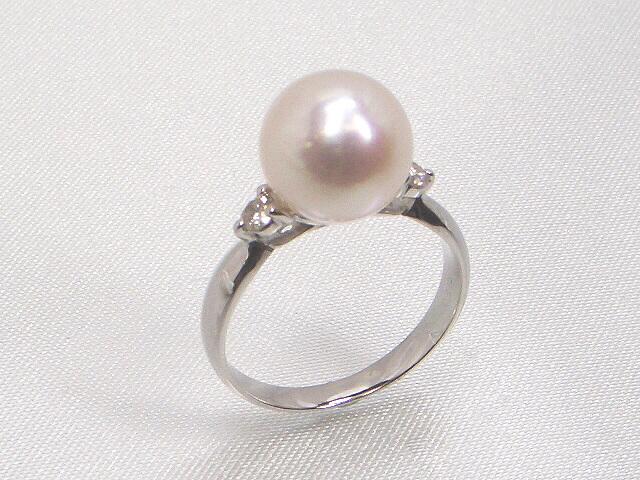 《最高級》花珠真珠リング ダイヤモンド入   ギフト プレゼント