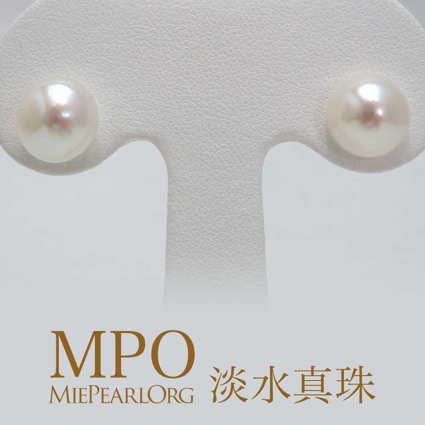 淡水真珠 イヤリング or ピアス パール ボタン型 真珠 ギフト