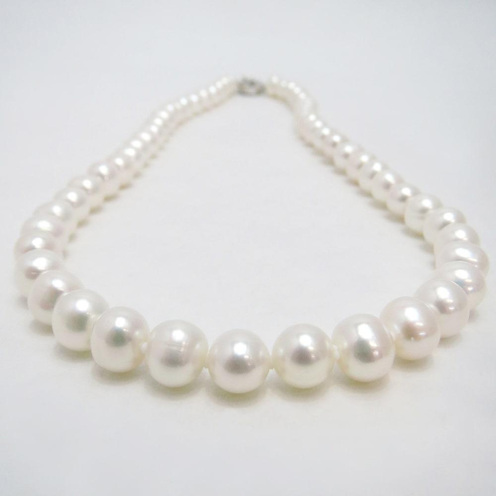 淡水真珠ネックレス 約7.0-7.5mm 約42cm   ギフト プレゼント