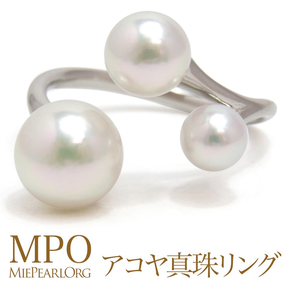 アコヤ真珠 オープンリング パール 指輪 ギフト プレゼント