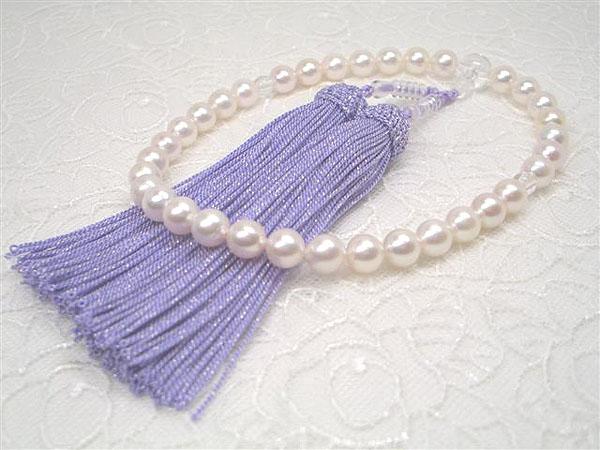 アコヤ真珠念珠(西陣織ケース付き)   ギフト プレゼント