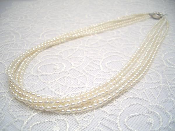 淡水パールネックレス | 華やかな席にも使える、贅沢な5連!淡水パール五連ネックレス   ギフト プレゼント