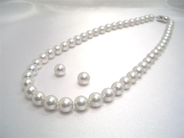 日本人女性の肌にぴったりの上品なグレー!SVアコヤグレー真珠(処理)ネックレスセット約8.0~8.5mm 入学式卒業式のフォーマルにも最適!