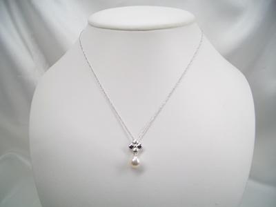 アコヤ真珠 デザインペンダント(チェーン付) SV   ギフト プレゼント