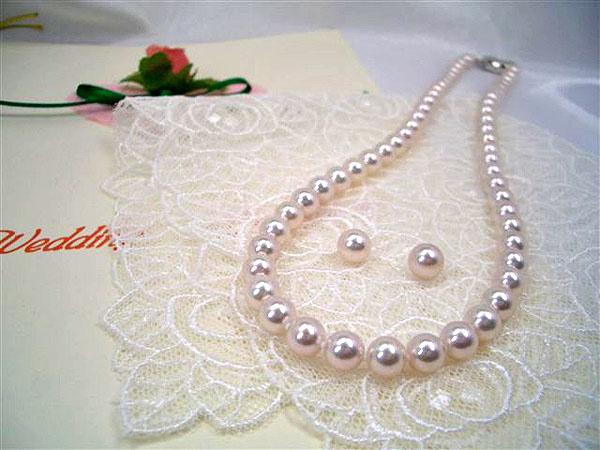 高級【花珠真珠】6.5~7.0mmアコヤ真珠ネックレスセット 入学式卒業式のフォーマルにも最適!   ギフト プレゼント